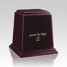 Temple Burgundy Small Marble Urn