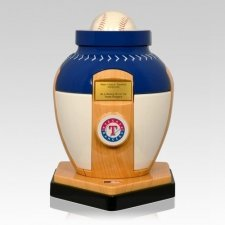 Texas Rangers Baseball Cremation Urn