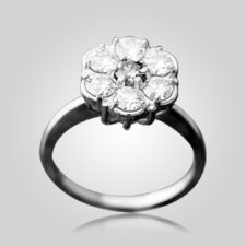 Tiffany Cluster 7 Stones Ring