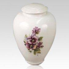Pansy Ceramic Cremation Urn