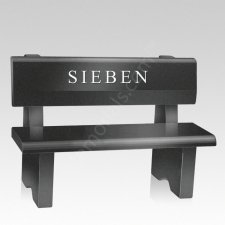 Traditional Granite Cemetery Bench