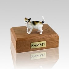 Tri-color Small Cat Cremation Urn