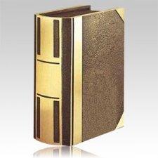 Bar II Book Bronze Companion Cremation Urn