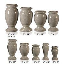 Silver Cloud Granite Vase