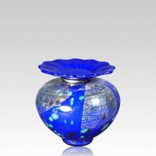 Milano Bluetonia Glass Keepsake Urn