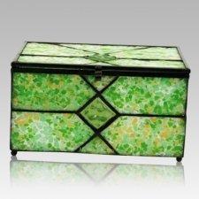 Verde Cathedral Glass Memory Chest
