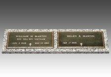 Veteran Bronze Grave Marker For Two