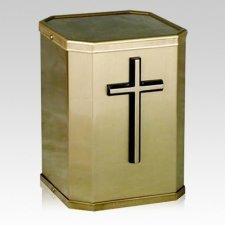 Victorious Cross Bronze Urn