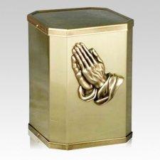 Victorious Prayer Bronze Urn