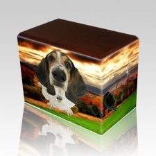 Autumn Walnut Pet Picture Urn