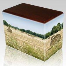 Bailing Hay Walnut Child Cremation Urn III