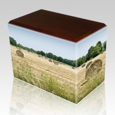 Bailing Hay Walnut Child Cremation Urn II