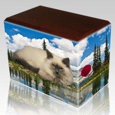 Pine Lake Walnut Pet Picture Urn III