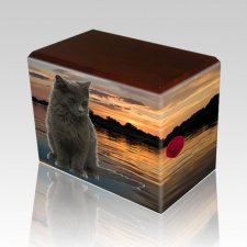 Swimming Hole Walnut Pet Picture Urn