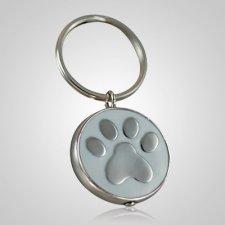White Paw Cremation Keychain