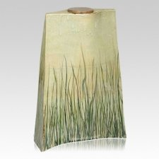 Windblown Grass Companion Cremation Urn