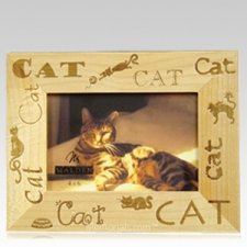 Wooden Cat Picture Frame