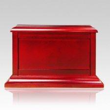 Wooden Chest Cherry Cremation Urn