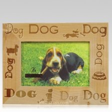 Wooden Dog Picture Frame
