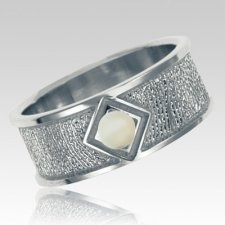 Opal 14k White Gold Ring Print Keepsake