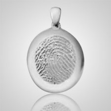 Large Casing Sterling Silver Finger Print Keepsakes