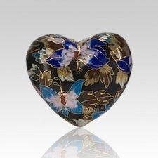 Black Copper Heart Cremation Urn