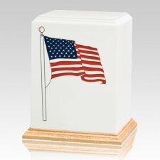 American Flag Cremation Urn