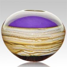 Sphere Amethyst Cremation Urn For Two