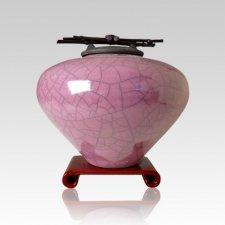 Raku Amethyst Medium Cremation Urn