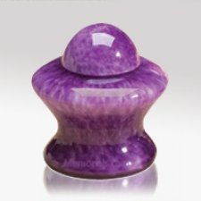 Purple Glass Keepsake Cremation Urn