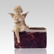 Infant Ruby Marble Angel Cremation Urns
