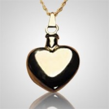 Polished Heart Keepsake Pendant II