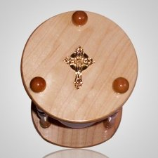 Hourglass Pillar Walnut Pet Urn