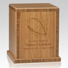 Football Bamboo Caramel Cremation Urn