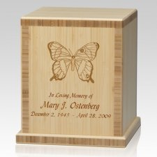 Butterfly Bamboo Natural Cremation Urn