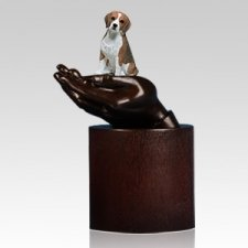 Beagle Hands Dog Cremation Urn