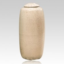 Bella White Ceramic Cremation Urn