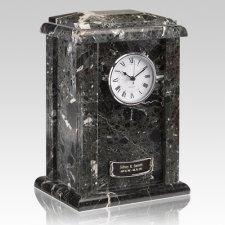 Marble Clock Black Urn