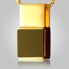 Black Onyx Square Cremation Pendant II
