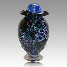 Moonshine Glass Cremation Urn