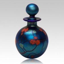 Blue Round Keepsake Urn