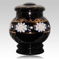 Bohemian Glass Cremation Urn