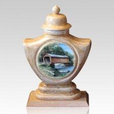 Bridge Ceramic Cremation Urn