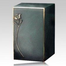 Artisan Lily Bronze Cremation Urn