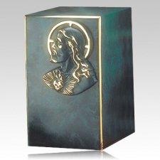 Artisan Jesus Bronze Cremation Urn