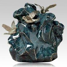 Three Doves Bronze Cremation Urn