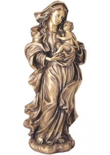 Mother With Child Bronze Statues