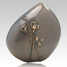 Bronze Roses Cremation Urn