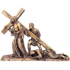 To The Cross We Go Wall Bronze Statues
