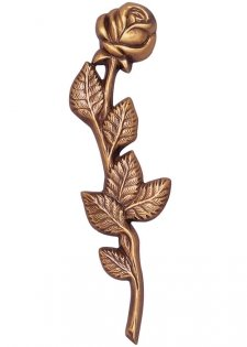 Twisted Rose Wall Bronze Statues